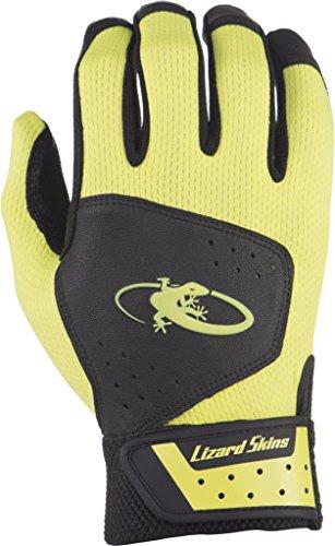 (Lizard Skins Komodo Youth Batting Gloves Jet Black/Neon / Small)