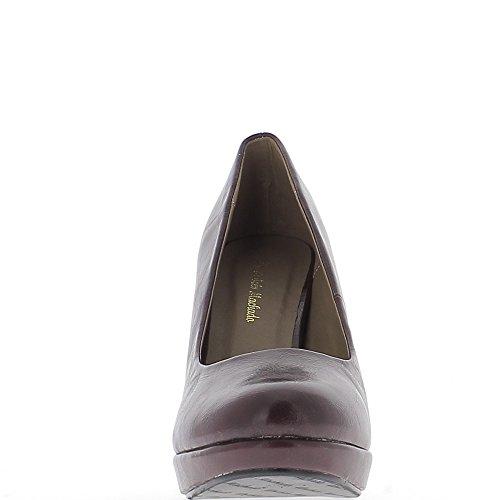 Mujeres grandes zapatos tamaño chocolate tacón 12cm y plataforma