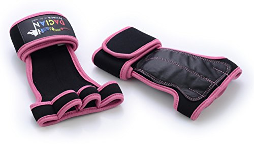Cross Training Premium Leather Gloves with Wrist Support for Pull Ups,Gymnastics,Workout,Fitness,WODs,Kettlebells   No Calluses,Weight Lifting Durable Grips   Best Model For Women (Large)
