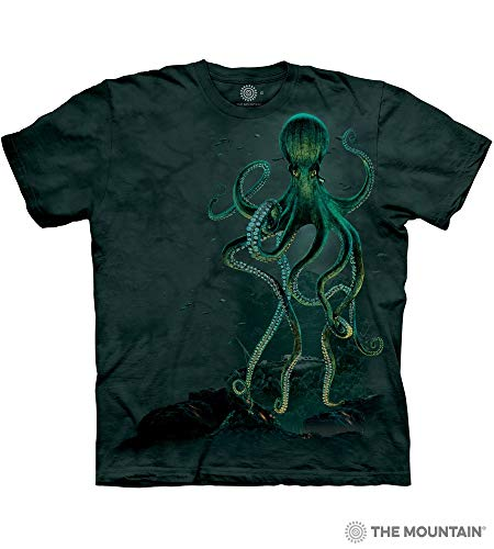 The Mountain Octopus Adult T-Shirt, Green, Medium