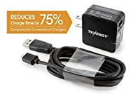 Tenergy 18W Quick Charge 2.0 USB Wall Charger for Galaxy S6/Edge/Plus, Note 4/5, LG G4, Nexus 6, Samsung Fast Charge Wireless Charger and More