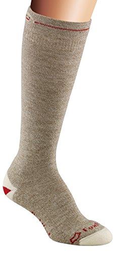 Fox River Red Heel Knee High Monkey Socks, Large, Brown