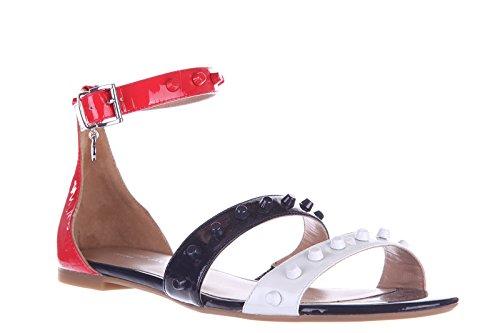 Schwarz Jeans Sandaletten Leder Damen Armani Sandalen ZXYq0Z6