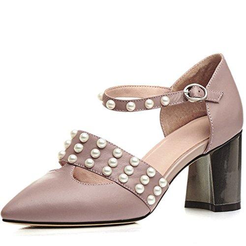 Nine Seven Pump Shoes - Zapatos de vestir de Piel para mujer albaricoque