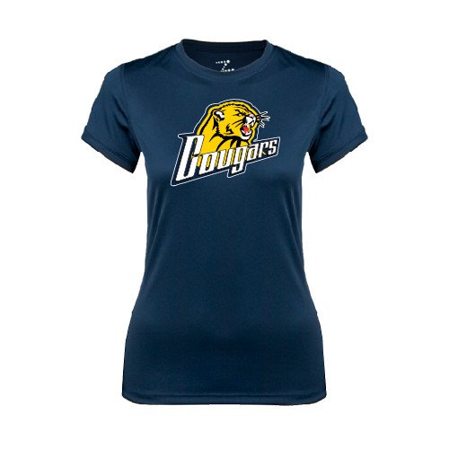 Spring Arbor Ladies Syntrel Performance Navy Tee 'Cougars'