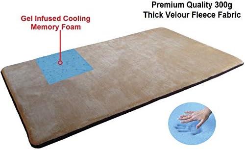 XL Large Cooling Memory Foam Rug Mat for Bathroom Kitchen Yoga Travel Pet Beds