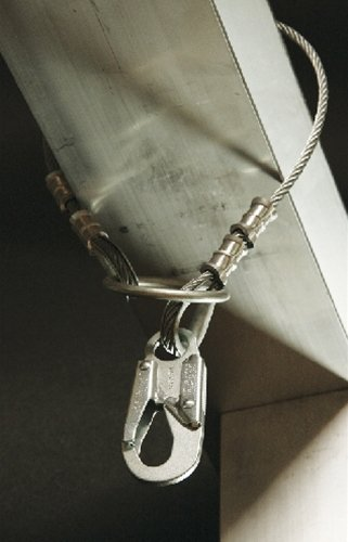 Guardian Fall Protection 10461 4-Foot Vinyl Coated Galvanized Cable Choker Anchor with 3-Inch O-Ring and Snaphooks by Guardian Fall Protection (Image #1)