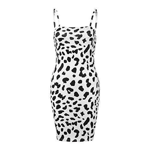 Sagton Sexy Leopard Buttock Fitting Tube Bodycon Evening Dress White