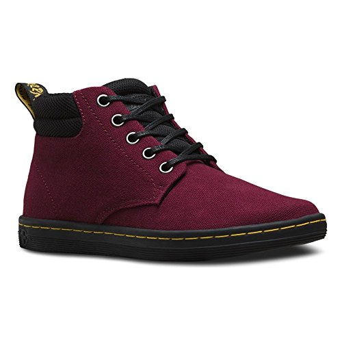 Eye Collar Padded Boot 6 (Dr. Martens Women's Belmont Padded Collar 5-Eye Boot Old Oxblood Canvas 4 UK)