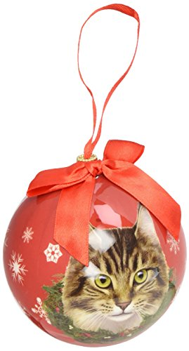 Maine Coone Cat Christmas Ornament Shatter Proof Ball Easy To Personalize A Perfect Gift For Maine Coone Cat Lovers