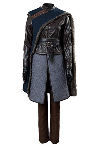 Womens GOT Arya Stark Cosplay Costume Outfit Season 8 Halloween Suit -