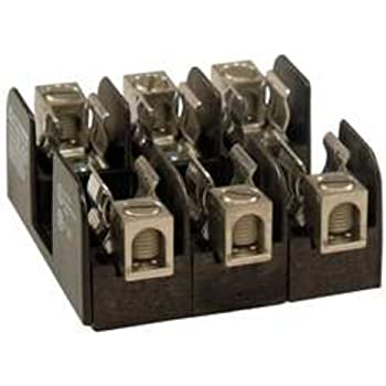 Mersen 60607 Class H and K Spring Reinforced Fuse Block with Box Connector 2 Pole 2-14 Wire Range 600V 60 Ampere