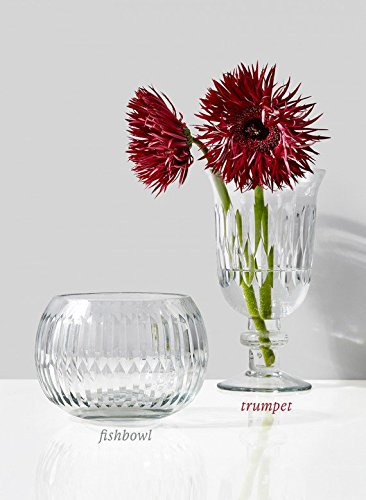 Etched Fishbowl & Trumpet Pedestal Vase