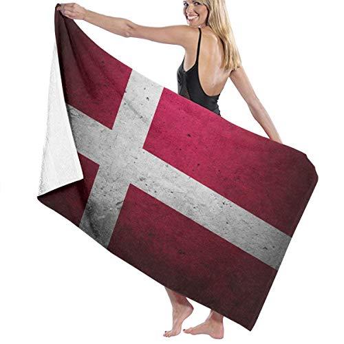 対立否認するハイキングビーチバスタオル バスタオル デンマークの旗 速乾タオル 海水浴 旅行用タオル 多用途 おしゃれ White