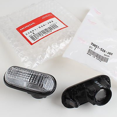 Genuine OEM Honda S2000 Clear Side Marker Lights 33801-S2A-J02 & 33851-S2A-J02 (1 Pair) 4333017104