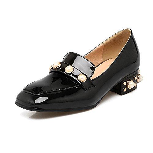 Black talons Place Mei Bouche Lsm amp;s À Peu Plat Tête Occasionnels Chaussures Femmes Profonde SHwOTq