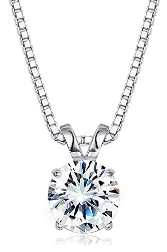 Sllaiss Mother's Day Gift Set with Brilliance Swarovski Zirconia Pendant Necklace For Women Girls Made of Sterling Silver Solitaire Necklace with Gift Box(2 - Solitaire Box Gift