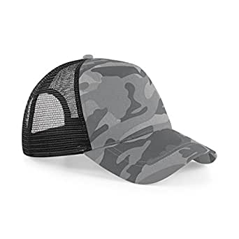Beechfield–Gorra Camuflaje Retro–Hombre Camouflage arctique Talla única