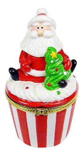 Santa Cupcake Trinket Box