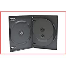 14mm CD DVD Storage Case 3 Discs Black With Tray Triple Holder Box 20 Pack Premium Quality