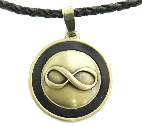 Infinity Leather Necklace, Adjustable
