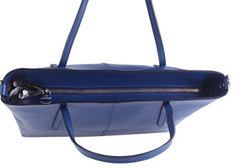 BeAllure Women's Handbag Bags Shoulder Women Leather Large Blue for Genuine Totes smallsize rrdCqgwt
