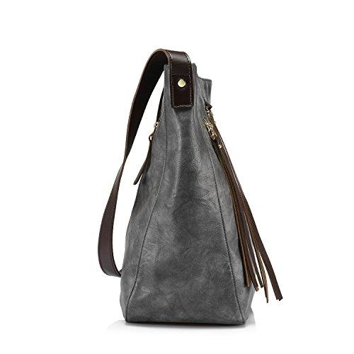 db26713251bf3 Borse donna borse grandi Borse a secchiello borsa tracolla borse a tracolla  secchio borsa borsa crossbody bag Grigio  Amazon.it  Valigeria