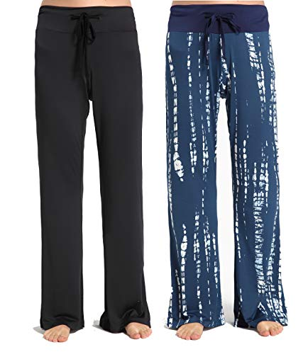 CYZ Women's Casual Lounge Pants-BlackBlueGalaxy2PK-S