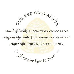 Burt\'s Bees Baby - Set of 3 Bee Essentials Solid Burp Cloths, 100% Organic Cotton, Heather Grey