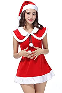 Christmas costume Santa play suit,red