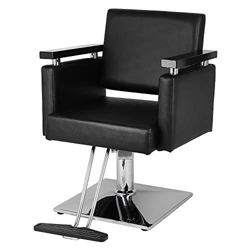Sinoluck Styling Barber Chair Beauty Salon Hair Equipment,Hydraulic Modern Shampoo Chairs,Black