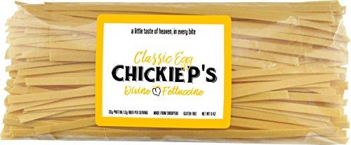 Chickie P's - Fresh Chickpea Fettuccine Pasta, Classic Egg, Best Tasting & Gluten Free - 9 ounces