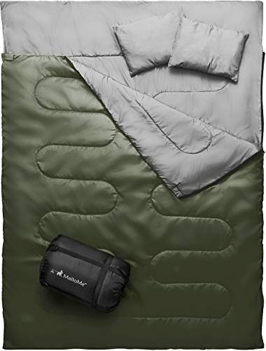 MalloMe Camping Sleeping Bag - 3 Season Warm & Cool...
