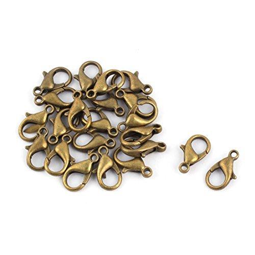 eDealMax Bracelet en mtal Collier Fermoir Crochet Chanes bijoux bricolage Fabrication des accessoires 20 Pcs Bronze Tone