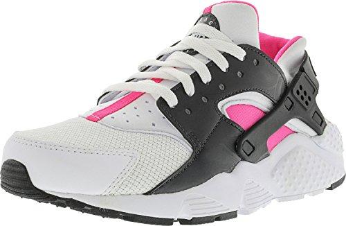Nike Filles Huarache Courir Chaussure De Course Haute Cheville Blanc Rose Noir