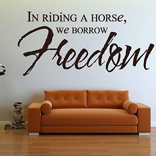 HOUCONG En Riding A Horse We Borrow Freedom Art Etiqueta De La ...