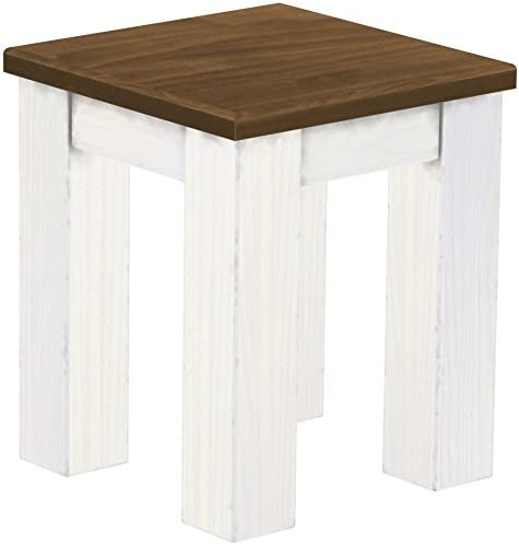TableChamp Stool Rio Solid Pine Walnut Light White Wood Oiled
