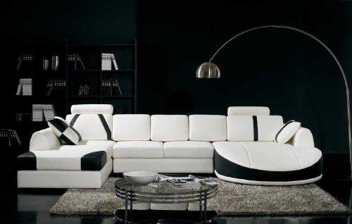Sectional Sofa Ultra Modern (Vig Furniture T57B Ultra Modern Sectional Sofa)