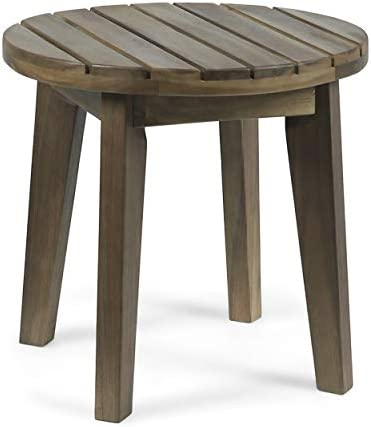 Christopher Knight Home Parker Outdoor 16″ Acacia Wood Side Table