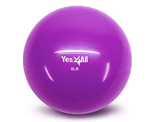 Yes4All Soft Weighted Medicine Toning Ball - Purple - 8 lbs - ²HWGXZ