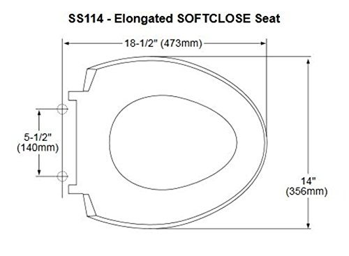 Toto Ss114 01 Softclose Elongated Toilet Seat Cover
