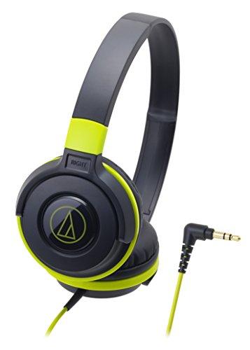 Audio-Technica Street Monitoring ATH-S100BGR On-Ear Headphones Portable (Black/Green)