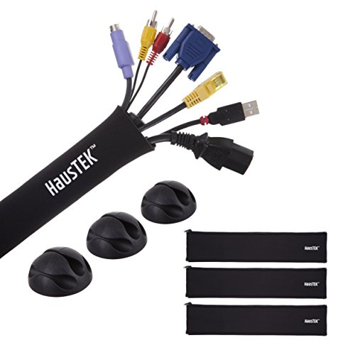 Customizable Cable Management Sleeve: Corral Your Cable Mess With This Flexible Cable Holder - Now in 3-Packs of 20