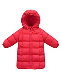 Happy Cherry Baby Boys DownCoat Long Sleeve Puffer Zipper Up Winter Down Outerwear 2-3T Brown