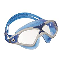 Aqua Sphere Seal XP2 Adult Swimming Goggles - White/Blue with Clear Lens