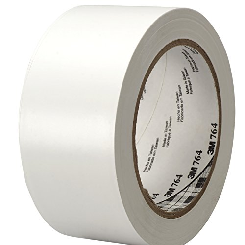 Purpose Electrical - 3M General Purpose Vinyl Tape 764 White, 2 in x 36 yd 5.0 mil (Pack of 1)