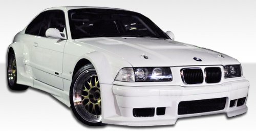 (1992-1998 BMW 3 Series E36 2DR Duraflex GT500 Widebody Kit - Includes GT500 Widebody Front Bumper (105335), GT500 Widebody Sideskirts (105336), GT500 Widebody Rear Bumper (105337), GT500 Widebody Front Fenders (105338), GT500 Widebody Rear Fender flares (105339) - Duraflex Body Kits)