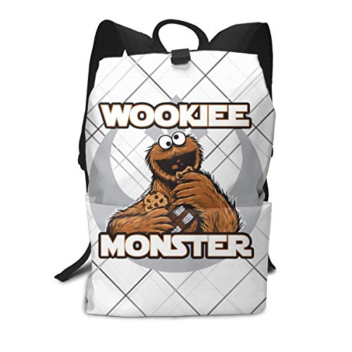 Zu Cu Cu Laptop Backpack for Women Men, Sesame Street Cookie Monster Face School College Bookbag for Girls Boys Fashion Travel Back Pack