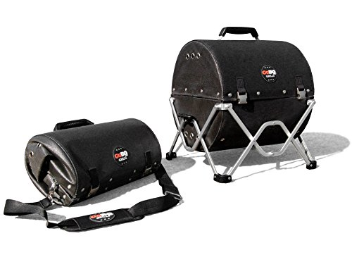 GoBQ Portable Charcoal Grill Fits in a Backpack Perfect for Camping, Tailgating, Travel, Hiking, Boating, Fishing, Hunting, Biking, The Beach, RVs, College Students, Urbanites and Gifting