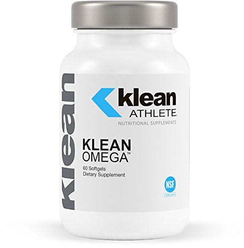 Klean Athlete - Klean Omega - Pure Fish Oil in Triglyceride Form to Support Cardiovascular, Neurological and Joint Health - NSF Certified for Sport - 60 Softgels